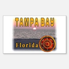 Tampa Bay Florida compass ros Sticker (Rectangle)