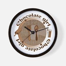Chocolate girl Wall Clock