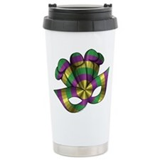 Mardi Gras Mask Travel Mug