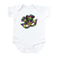 Mardi Gras Mask Infant Bodysuit