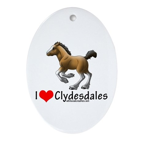 White Oak Stables Ornament (Oval)