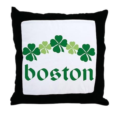 Shamrock Irish Boston Throw Pillow