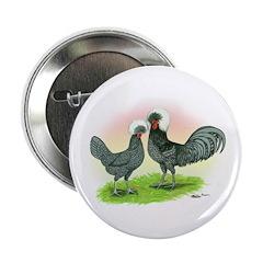 Blue Polish Chickens Button