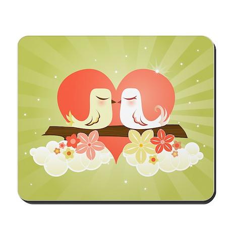Love Birds at Heart - Mousepad