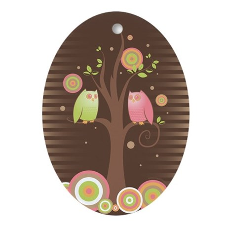 Owl Always Love You - Oval Ornament