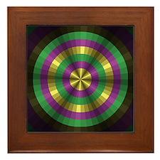 Mardi Gras Illusion Framed Tile