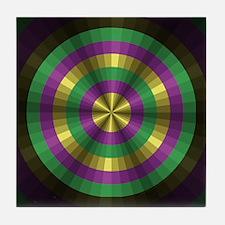 Mardi Gras Illusion Tile Coaster