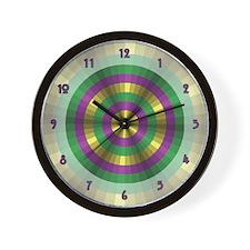 Mardi Gras Illusion Wall Clock