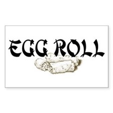 Egg Roll Rectangle Decal