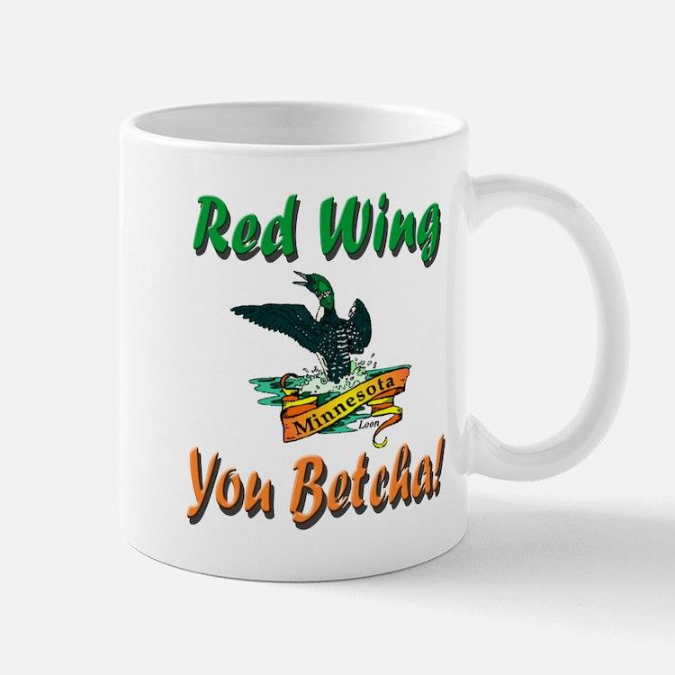 Red Wing 'You Betcha' Loon Mug