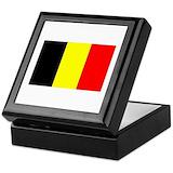 Belgium flag Square Keepsake Boxes