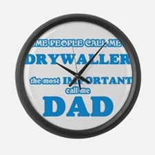 Some call me a Drywaller, the mos Large Wall Clock