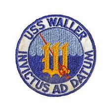 """USS WALLER 3.5"""" Button"""