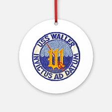 USS WALLER Ornament (Round)