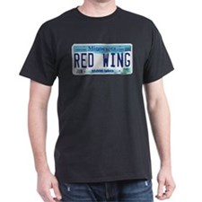 Red Wing License Plate T-Shirt