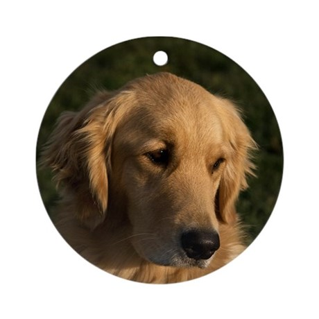 Golden Retriever Head Ornament (Round)