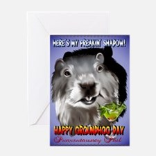 Punxsutawney Phil's Shadow Greeting Card