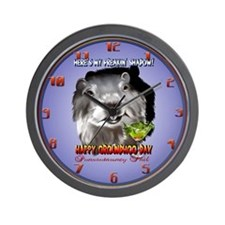 Punxsutawney Phil's Shadow Wall Clock