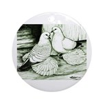 Ice Pigeons Ornament (Round)