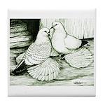 Ice Pigeons Tile Coaster