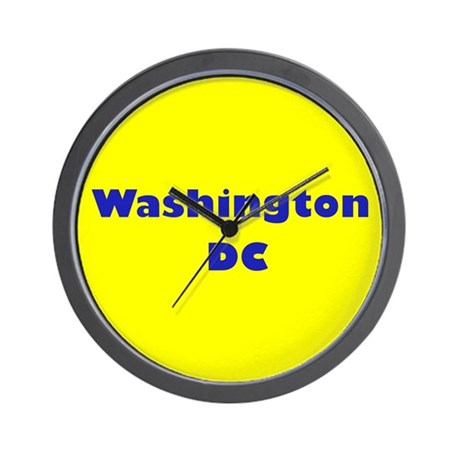 Washington DC (Yellow/Blue) Wall Clock
