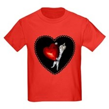 Cat with Red Heart T
