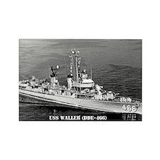 USS WALLER Rectangle Magnet