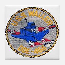 USS WALLER Tile Coaster
