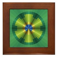 Peacock Illusion Framed Tile