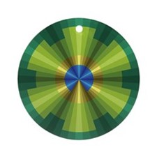 Peacock Illusion Ornament (Round)
