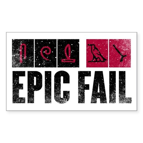 Lost Hieroglyphics Sticker (Rectangle 10 pk)