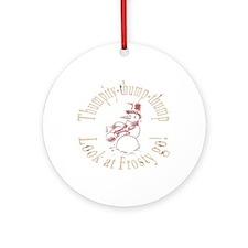 kettlebell snowman Ornament (Round)