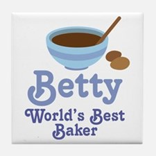 Betty Custom Baking Tile Coaster