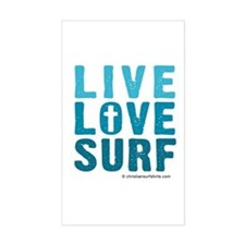Live Love Surf Decal