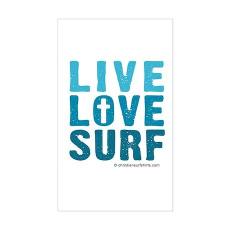 Live Love Surf Sticker