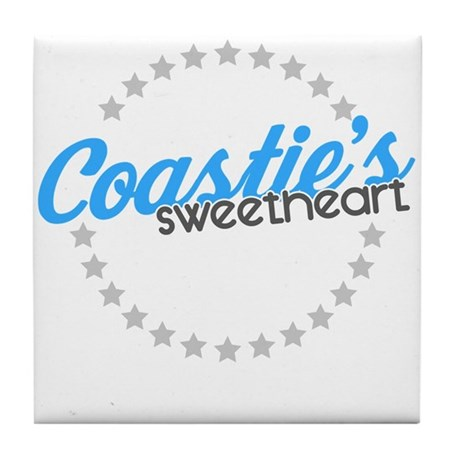 Coastie's Sweetheart Tile Coaster
