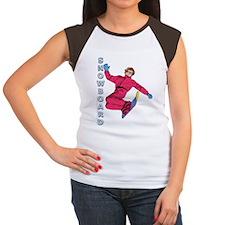 Snowboard #1 Women's Cap Sleeve T-Shirt