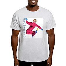 Snowboard #1 Ash Grey T-Shirt