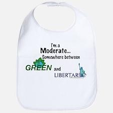 I'm A Moderate Bib