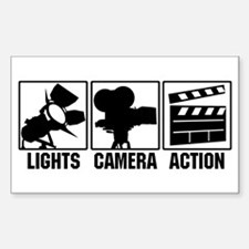 Lights, Camera, Action Bumper Stickers