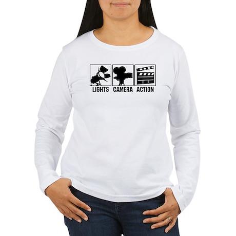 Lights, Camera, Action Women's Long Sleeve T-Shirt