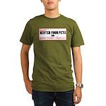 Neuter The Weirdos! Organic Men's T-Shirt (dark)
