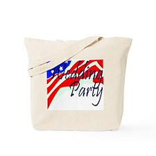 """Patriotic """"Wedding Party"""" Tote Bag"""