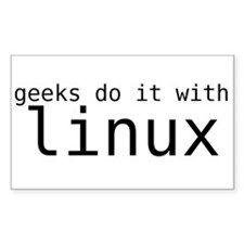 """""""Geeks Do It With Linux"""" Decal"""