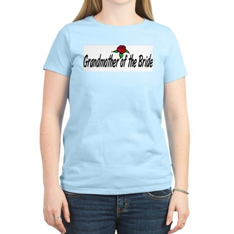 """""""Grandmother of the bride"""" Women's Pink T-Shirt"""