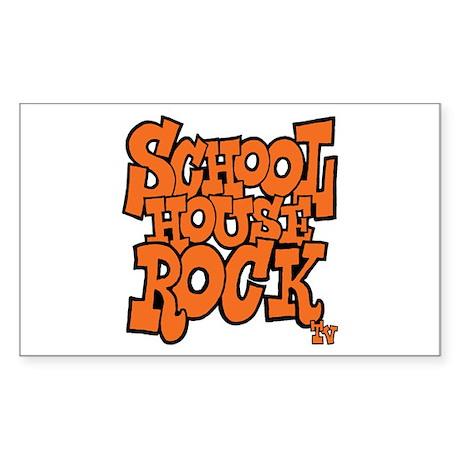 Schoolhouse Rock TV Sticker (Rectangle)