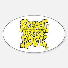 Schoolhouse Rock TV Sticker (Oval)