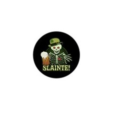 Skeleton Cheers Beer Mini Button (10 pack)