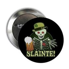 "Skeleton Cheers Beer 2.25"" Button"