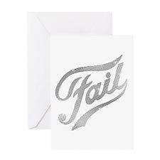 Fame - Fail silver Greeting Card